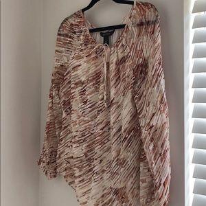 WHBM printed blouse